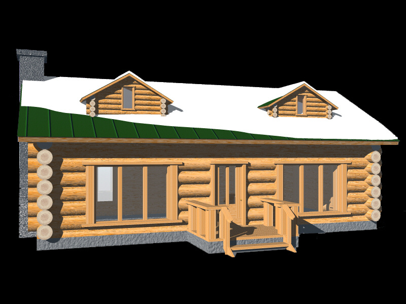 Log Cabin Model Image 8x6